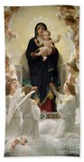 The Virgin With Angels Bath Towel