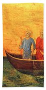 The Vocation Of The Apostle Peter Fragment 1311 Bath Towel