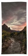 The Watchman Sunset Bath Towel
