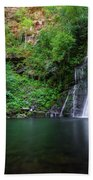 The Waterfall And Large Pool Of Vieiros Bath Towel