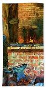 The Way We Were - The Blacksmith - Paint Bath Towel