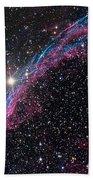 The Western Veil Nebula Bath Towel