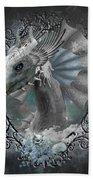 The White Dragon Bath Towel