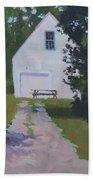 The White Garage - Art By Bill Tomsa Bath Towel