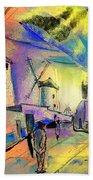 The Windmills Del Quixote 02 Bath Towel