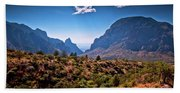The Window In The Chisos Mountains Bath Towel