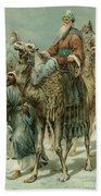 The Wise Men Seeking Jesus Bath Towel