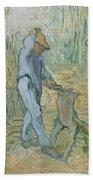 The Woodcutter After Millet Saint Remy De Provence September 1889 Vincent Van Gogh 1853  1890 Bath Towel
