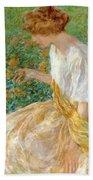 The Yellow Flower 1908 Bath Towel