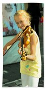 The Young Violinist  Bath Towel