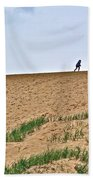 They Are Not At The Top Of This Dune Climb In Sleeping Bear Dunes National Lakeshore-michigan Bath Towel