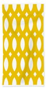 Thick Curved Trellis With Border In Mustard Bath Towel
