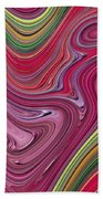 Thick Paint Abstract Bath Towel
