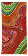 Thick Paint Orange Abstract Bath Towel
