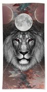 Third Eye Lion Vision Bath Towel