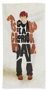 Thom Yorke Typography Art Bath Towel