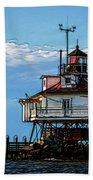 Thomas Point Lighthouse Bath Towel