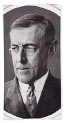 Thomas Woodrow Wilson, 1856 To 1924 Bath Towel