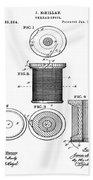 Thread Spool Patent 1877  Bath Towel