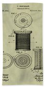 Thread Spool Patent 1877 Weathered Bath Towel