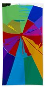 Three Beach Umbrellas Bath Towel