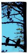 Three Crows In A Tree Bath Towel