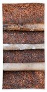 Three Hammers Against A Rust Background Bath Towel