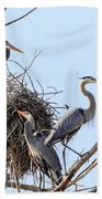 Three Herons Bath Towel