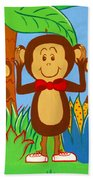 Three Monkeys No Evil Bath Towel