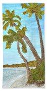 Three Palms At The Beach Bath Towel