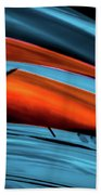 Three Sport Car Hoods Abstract Bath Towel