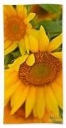 Three Sunflowers Bath Towel