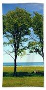 Three Trees Lake Shore Bath Towel