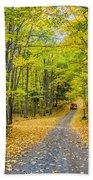 Through Yellow Woods 2 Bath Towel
