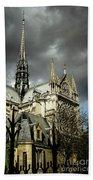 Thunderous Notre Dame Bath Towel