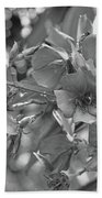 Tibouchina In Black And White Bath Towel