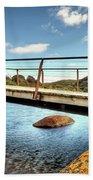 Tidal River Bridge Bath Towel
