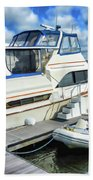 Tidewater Yacht Marina 5 Bath Towel by Lanjee Chee