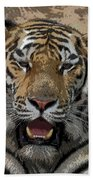Tiger Abstract Bath Towel