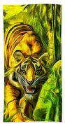 Tiger In The Forest Bath Towel