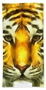 Tiger Painted Bath Towel