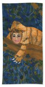 Tiger Sphinx Bath Towel