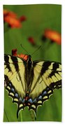 Tiger Swallowtail Butterfly Hand Towel
