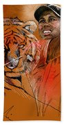 Tiger Woods Or Earn Your Stripes Bath Towel