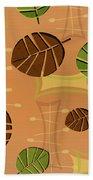 Tiki Lounge Wallpaper Pattern Bath Towel