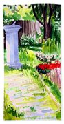 Time In A Garden Hand Towel