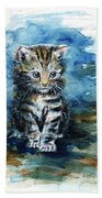 Timid Kitten Bath Towel