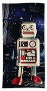 Tin Toy Robots Bath Towel