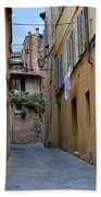 Tiny Street In Siena Bath Towel
