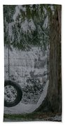 Tire Swing In Winter Bath Towel